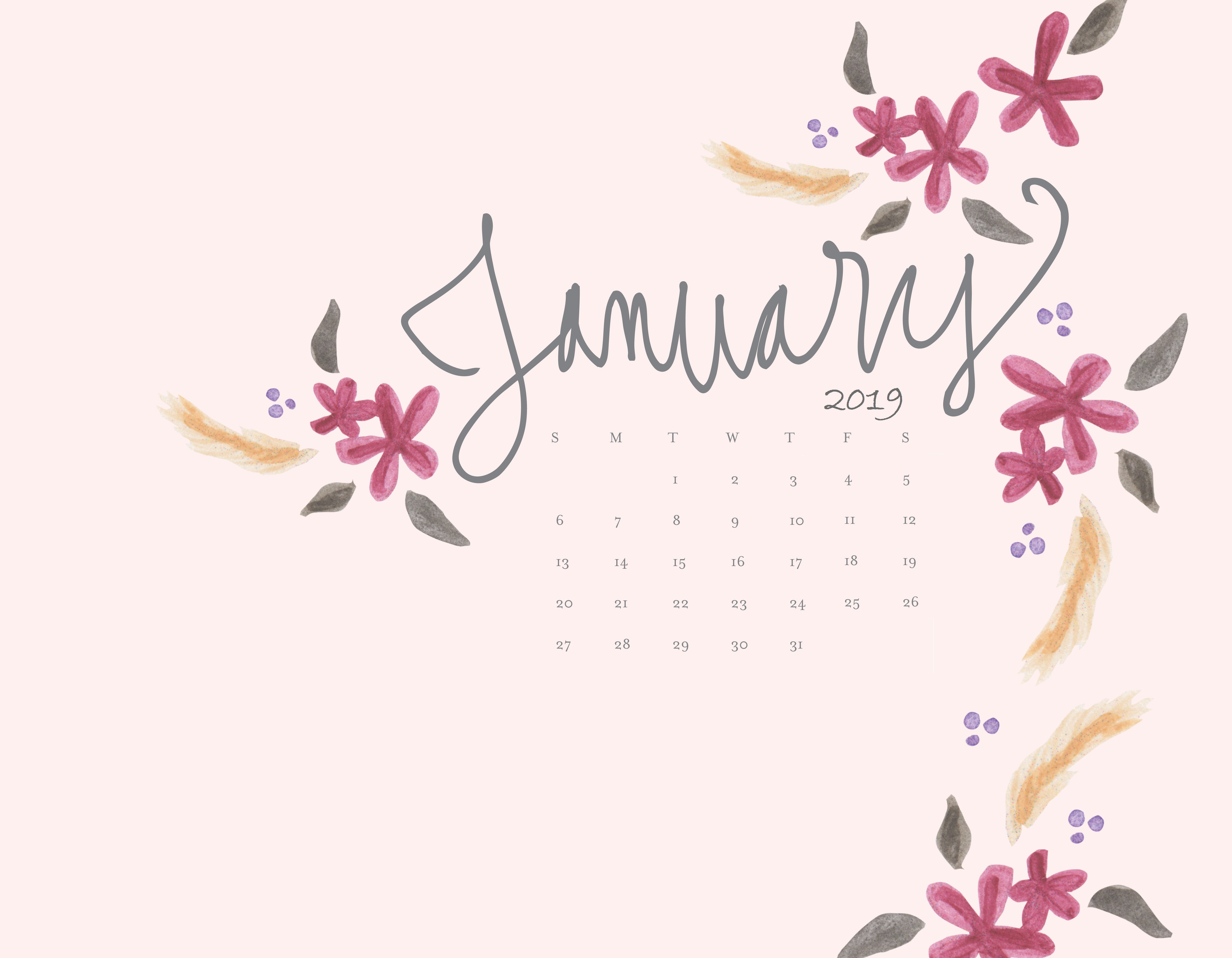 january 2019 hd calendar wallpapers calendar template printable::January 2019 Calendar Templates