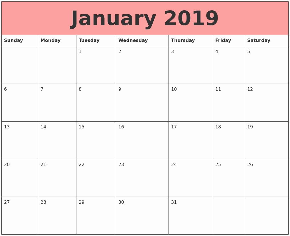 lovely 29 examples new 50 design 2019 calendar excel werdsa24::January 2019 Calendar Excel