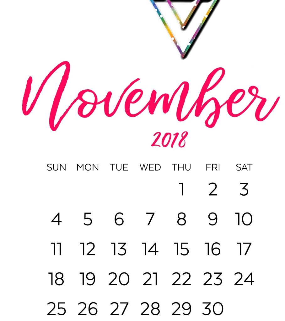 november 2018 archives picture pictures printable template::November 2018 Calendar Pdf