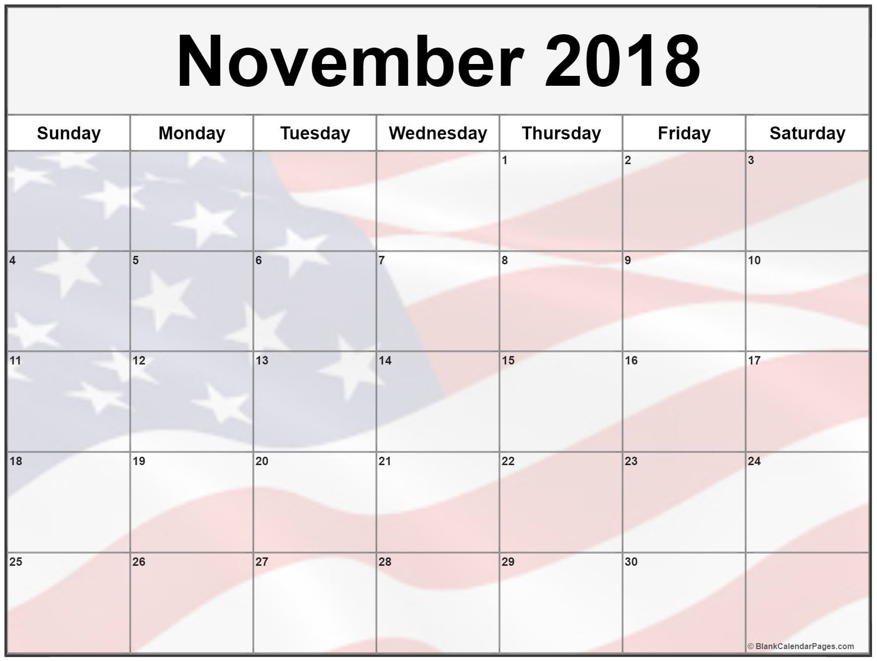 november 2018 calendar 51 calendar templates of 2018 calendars::November 2018 Calendar USA