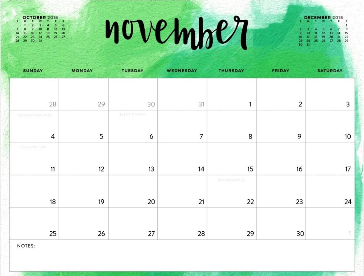 november 2018 calendar canada printable blank template with holidays::November 2018 Calendar Printable Template