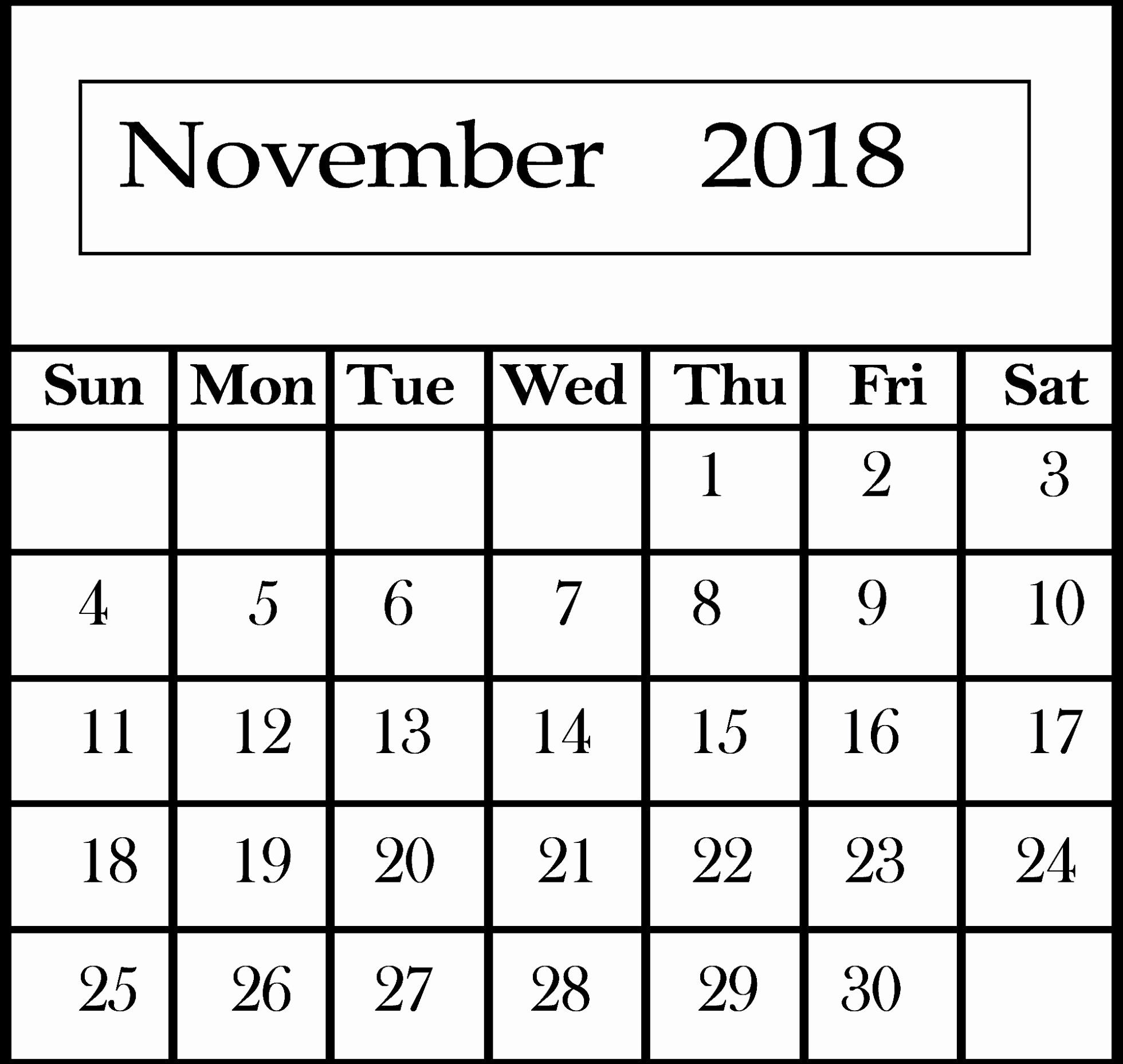 november 2018 calendar cute november 2018 calendar cute calendar::November 2018 Calendar Pdf