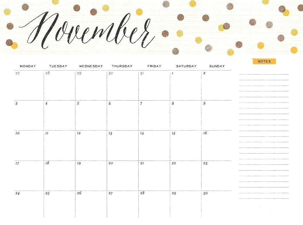 november 2018 calendar cute printable calendar 2018 template excel Editable November 2018 Calendar erdferdf