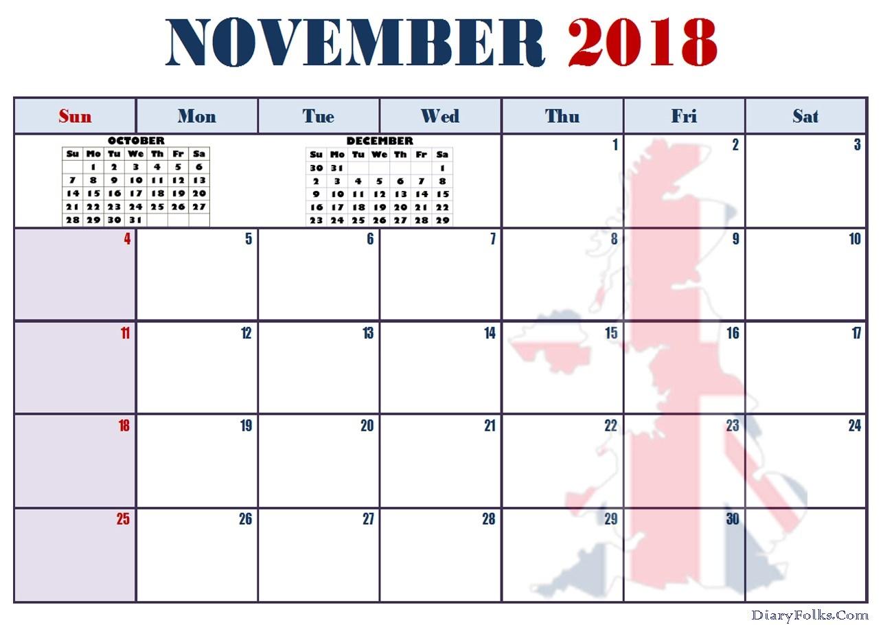 november 2018 calendar editable printable letter calendar Editable November 2018 Calendar erdferdf
