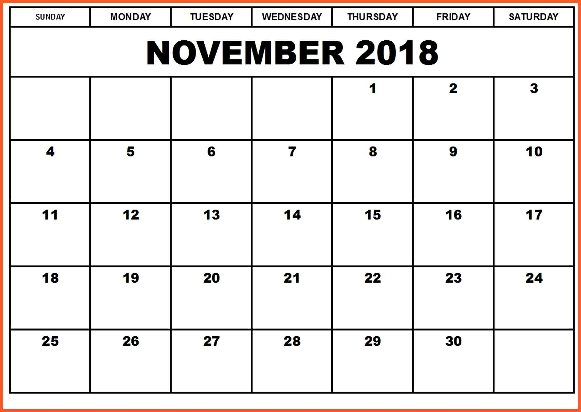 november 2018 calendar excel worksheet printable calendar 2018 November 2018 Excel Calendar erdferdf