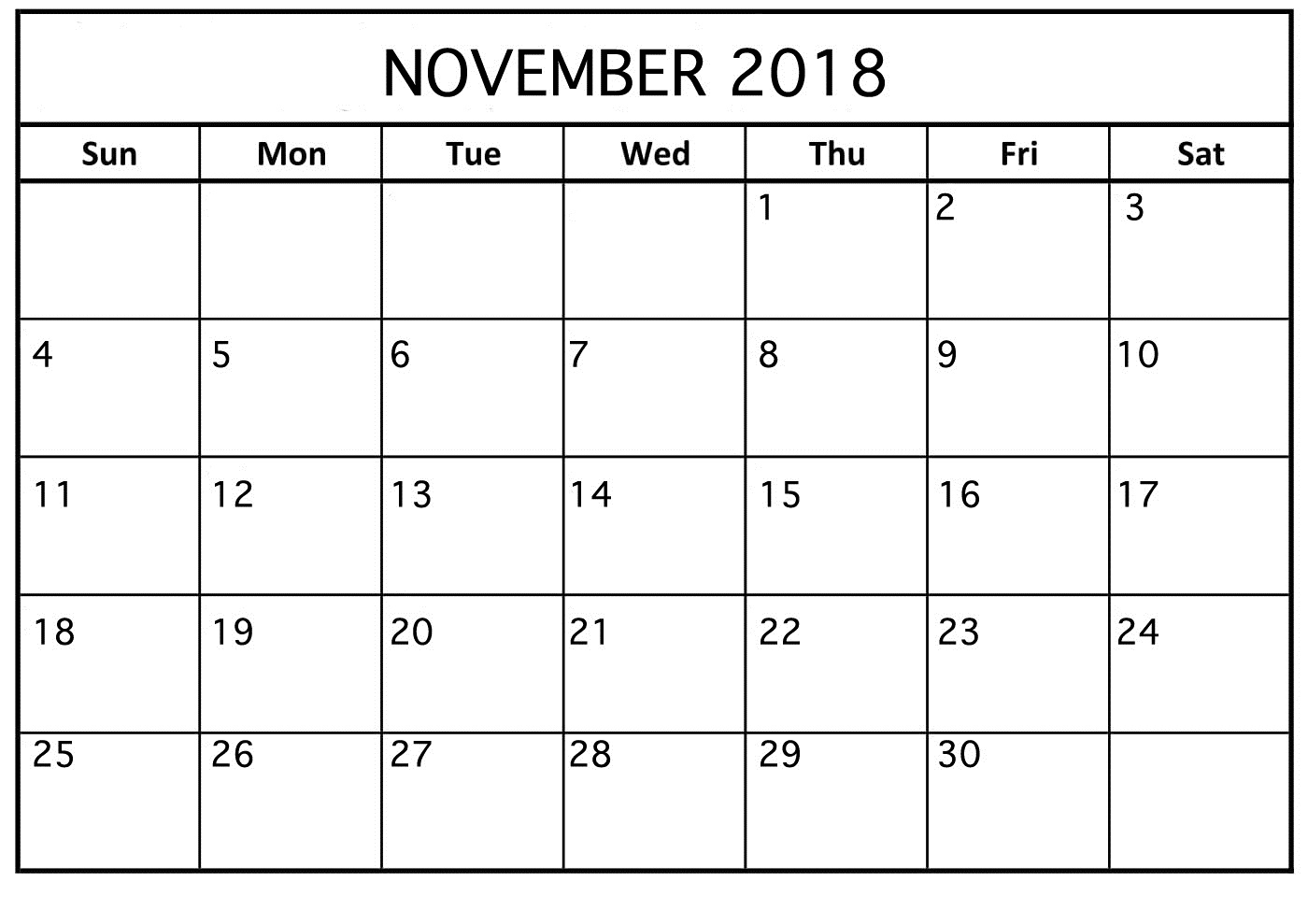 november 2018 calendar for android printable calendar template::November 2018 Calendar