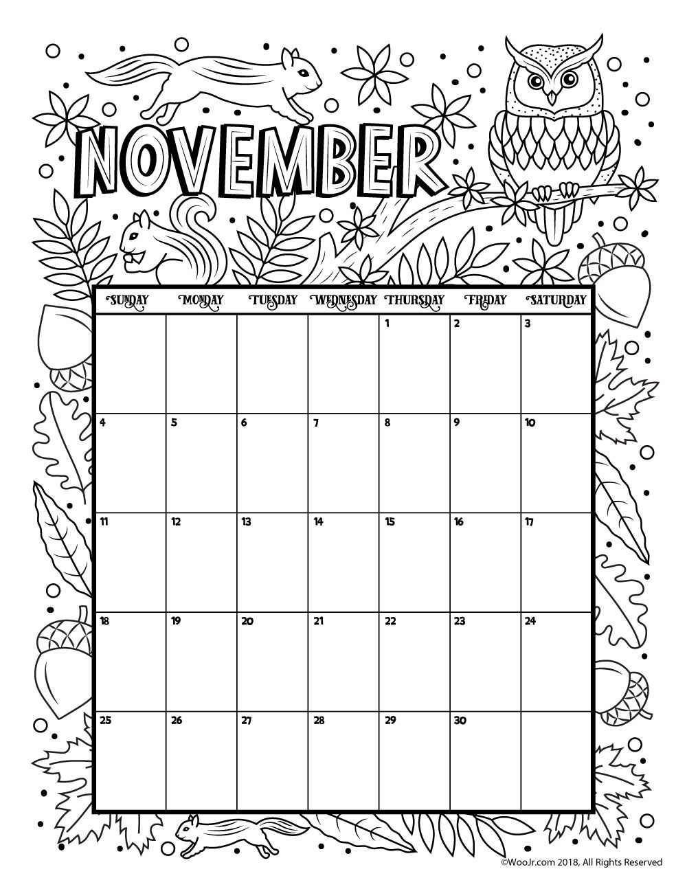 november 2018 calendar page word excel template november 2018 November 2018 Excel Calendar erdferdf