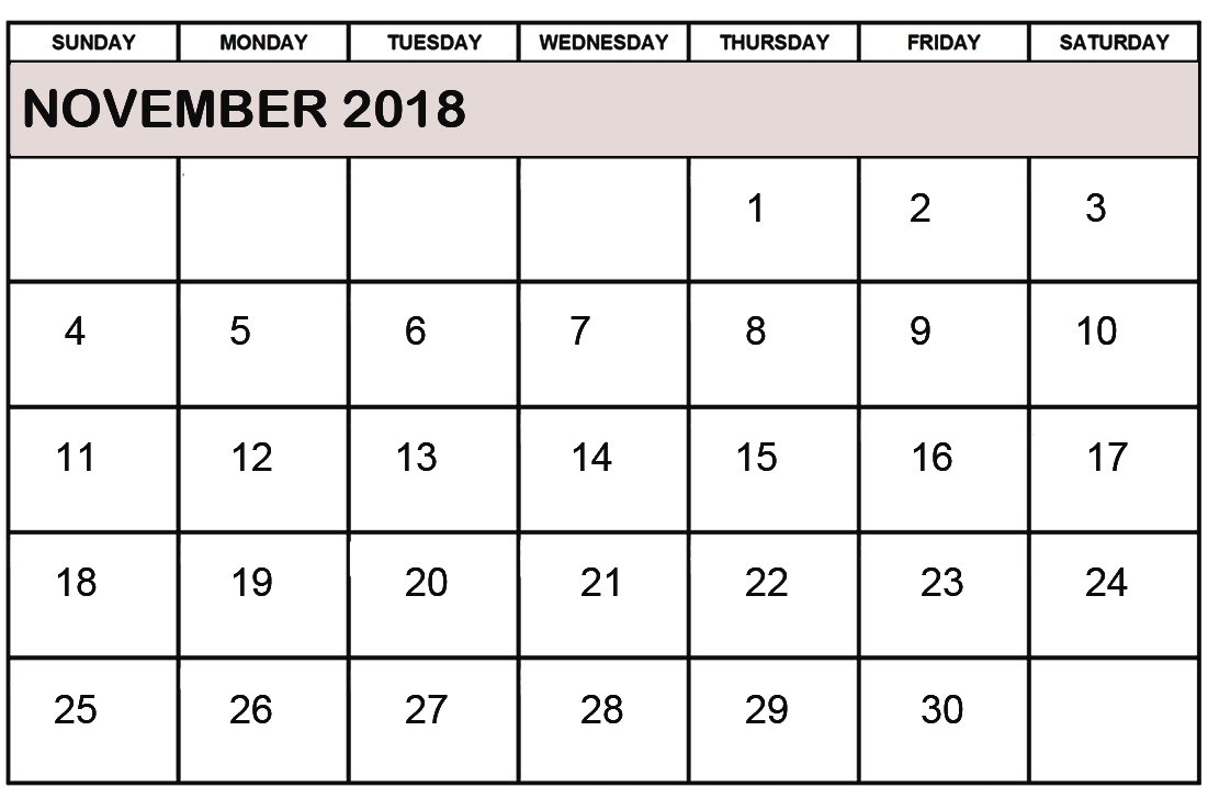 november 2018 calendar pdf with holidays printable calendar 2018::November 2018 Calendar Pdf