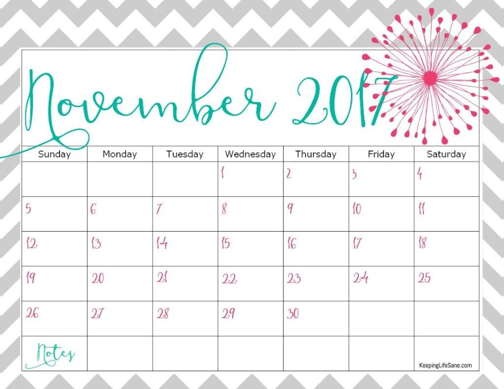 november 2018 calendar pink november 2018 calendar pink letter::November 2018 Calendar Printable Template