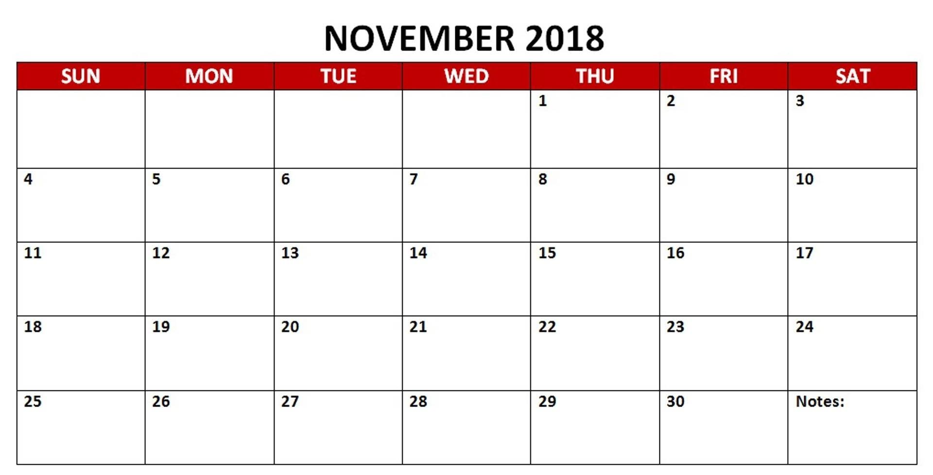 november 2018 calendar pink november 2018 calendar pink letter::November 2018 Calendar Template