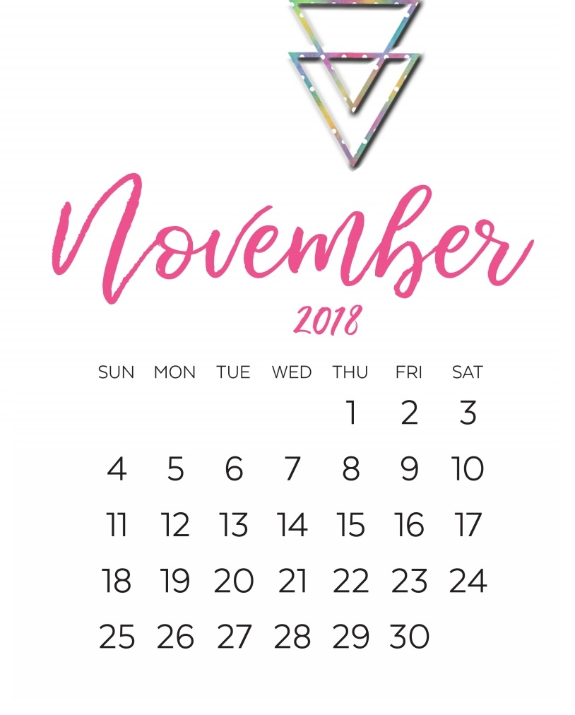 november 2018 calendar printable templates in ms word November 2018 Calendar MS Word erdferdf