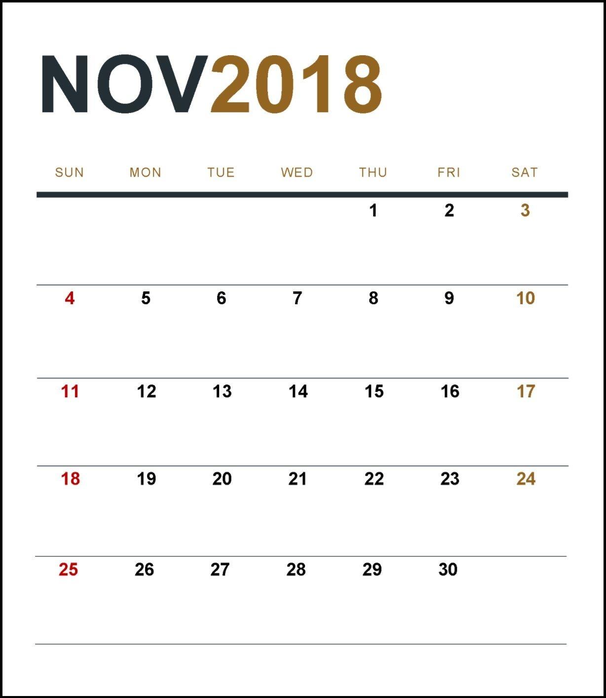 november 2018 calendar template calendar 2018 pinterest november::November 2018 Calendar Template