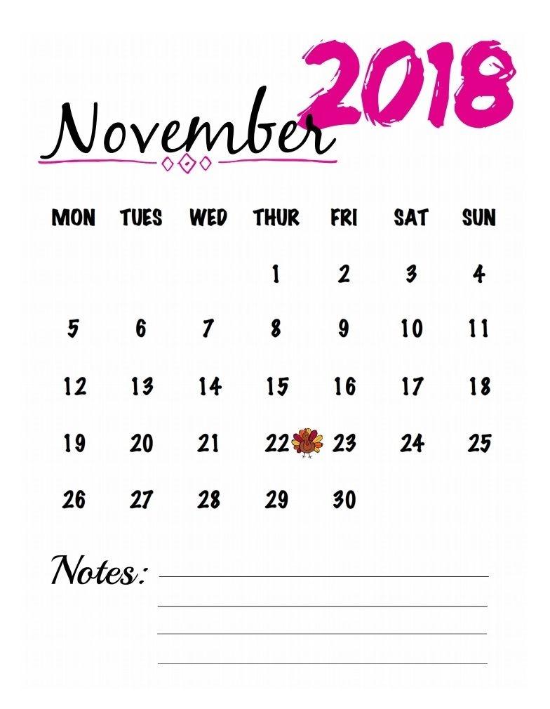 november 2018 printable calendar editable printable calendar Editable November 2018 Calendar erdferdf