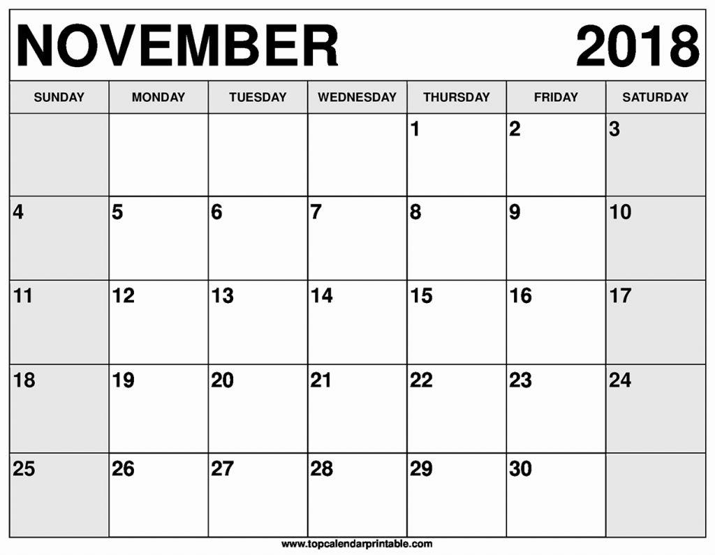 november printable calendar 2018 pdf november 2019 calendar pdf 2018::November 2018 Calendar Pdf