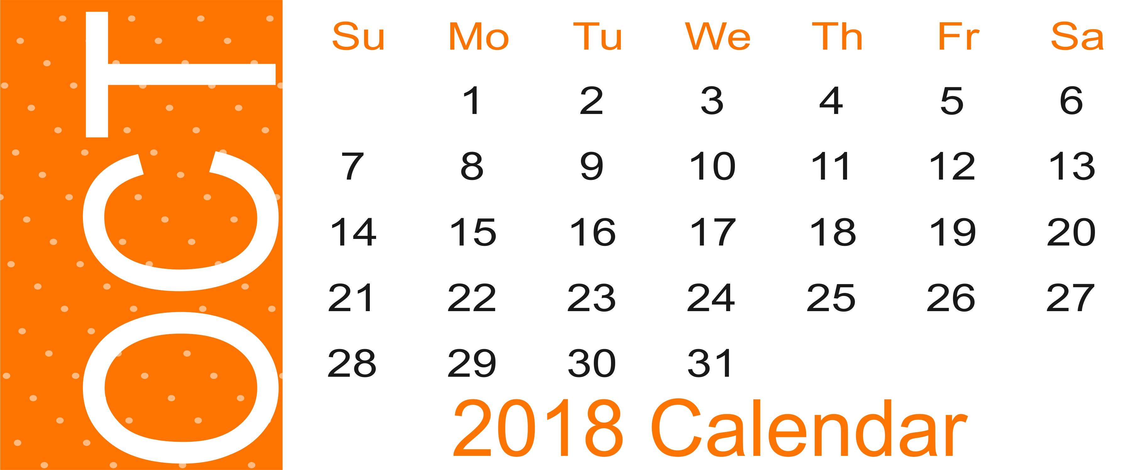 october 2018 calendar october 2018 printable calendar october October 2018 Calendar Free erdferdf