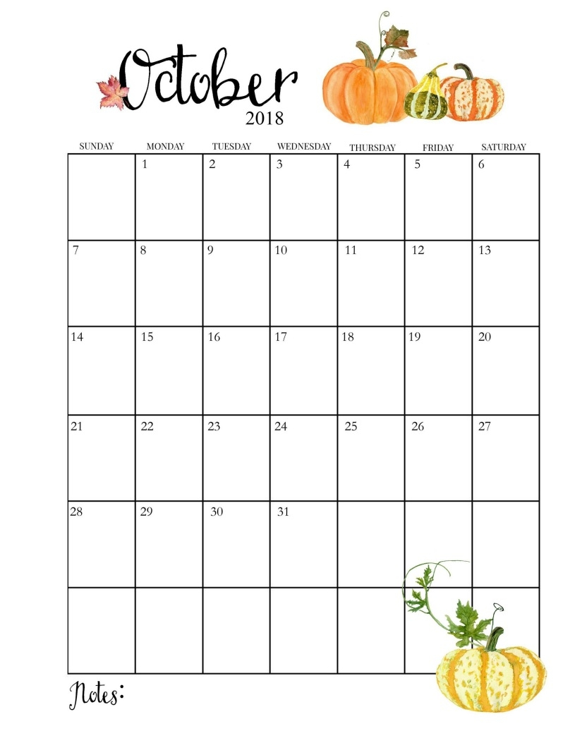 october 2018 calendar templates free calendar printable download October 2018 Calendar Printable Template erdferdf