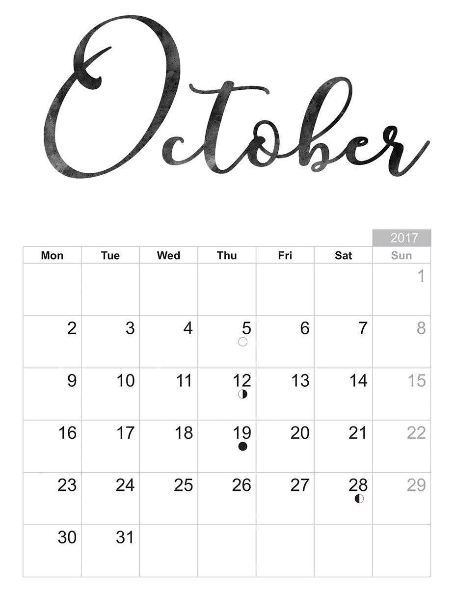 october 2018 printable calendar template print free calendar October 2018 Calendar Printable Template erdferdf
