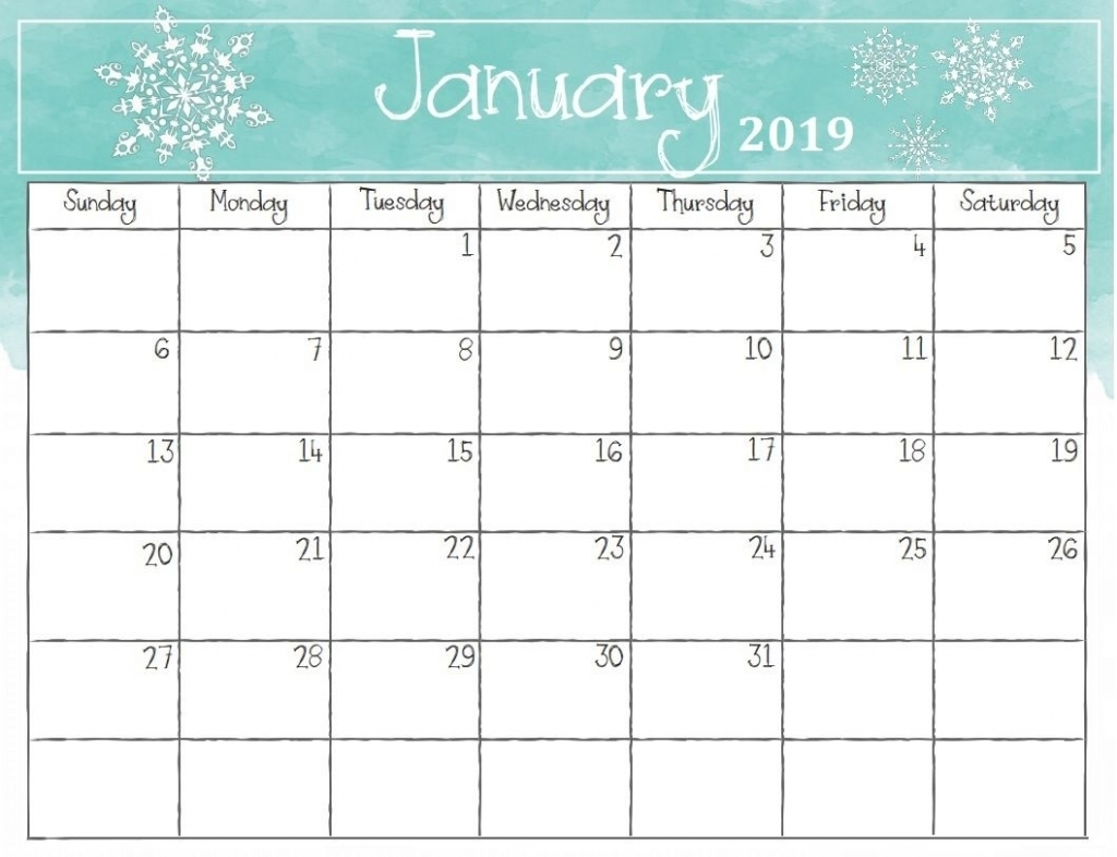 picture pictures printable template calendar 2018::Print January 2019 Calendar