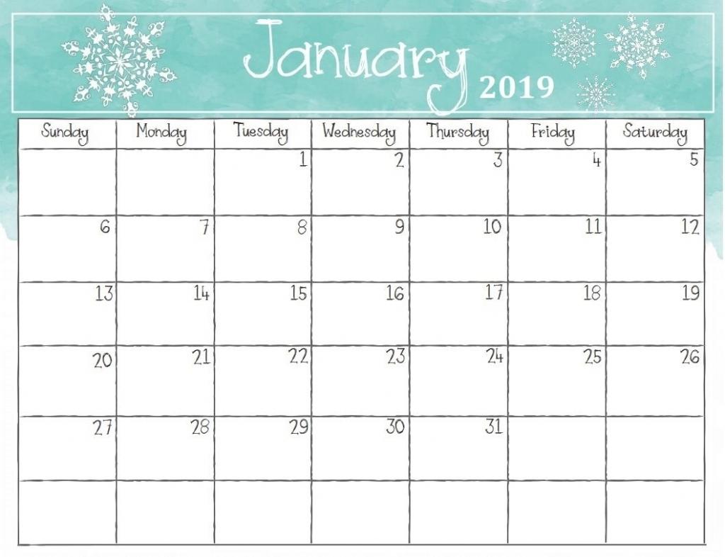 picture pictures printable template calendar 2018::Print January 2019 Calendar