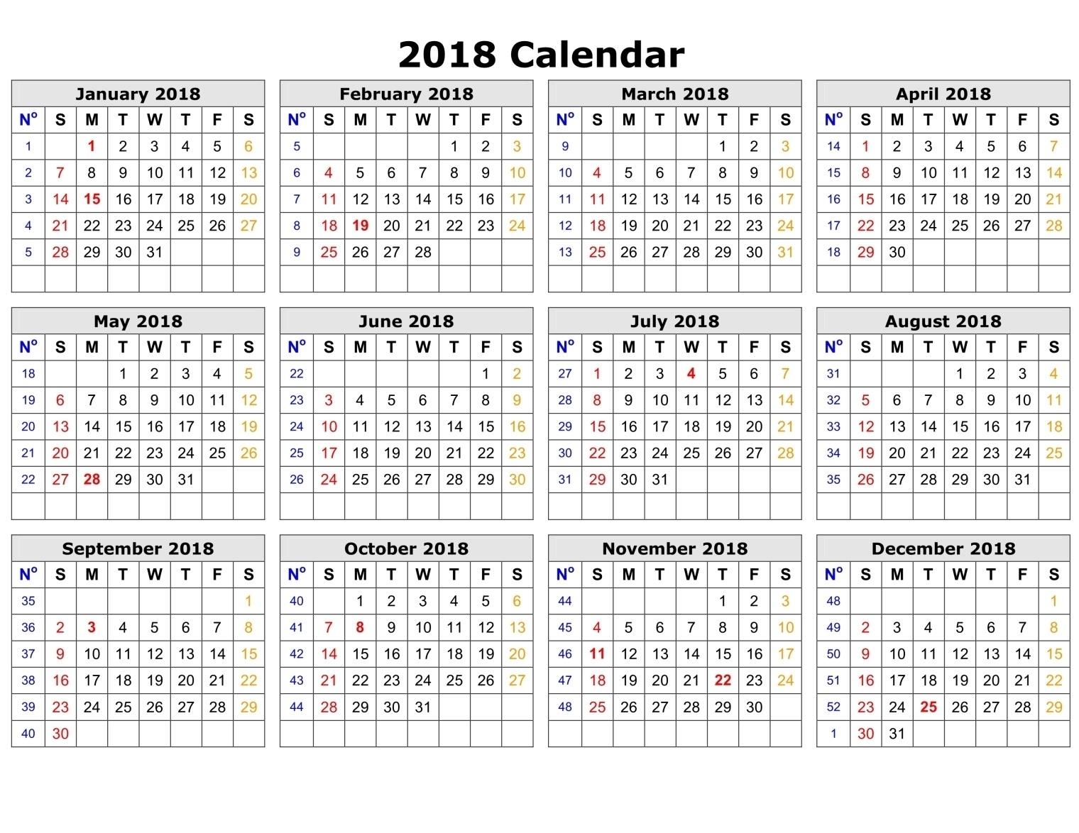printable calendar 2018 templates printable calendar templates 2018 2018 Printable Calendar Template erdferdf