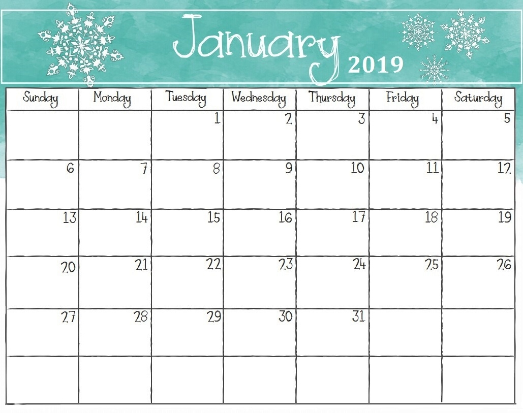 printable calendar january 2019 with holidays printable calendar::January 2019 Calendar with Holidays Printable