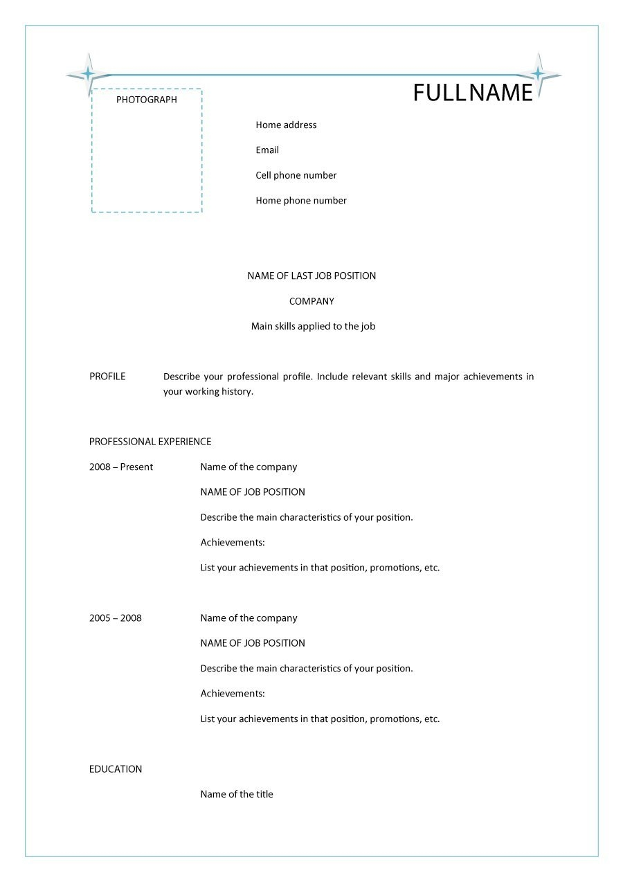 printable cv template goalblocketyco::Printable Resume CV Templates & Format Sample