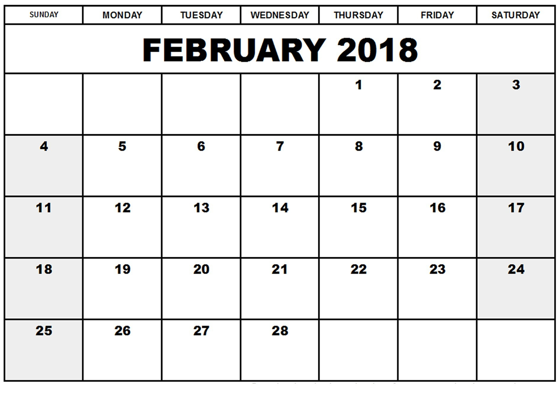 printable february 2019 calendar with holidays feb 2018 calendar::February 2019 Calendar Template Printable