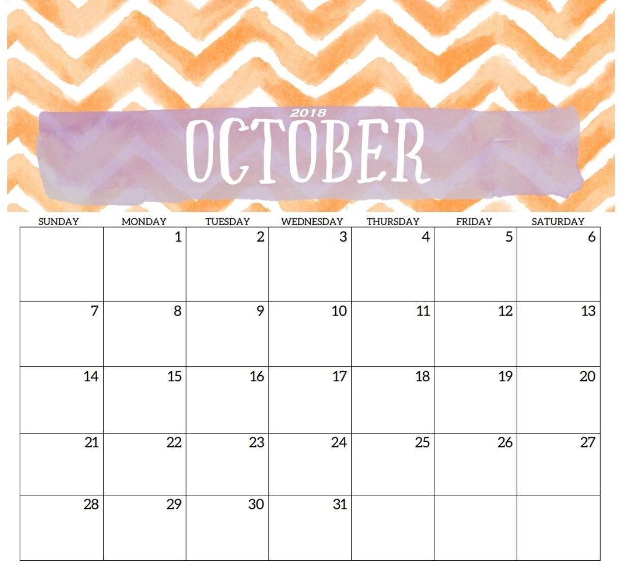 printable october 2018 calendar calendar 2018 pinterest Printable October 2018 Calendar erdferdf