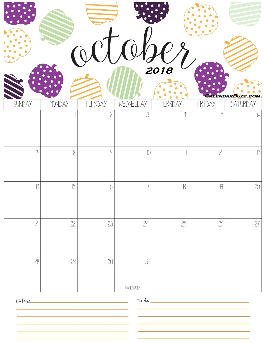 printable october calendar 2018 yelommyphonecompanyco Printable October 2018 Calendar erdferdf
