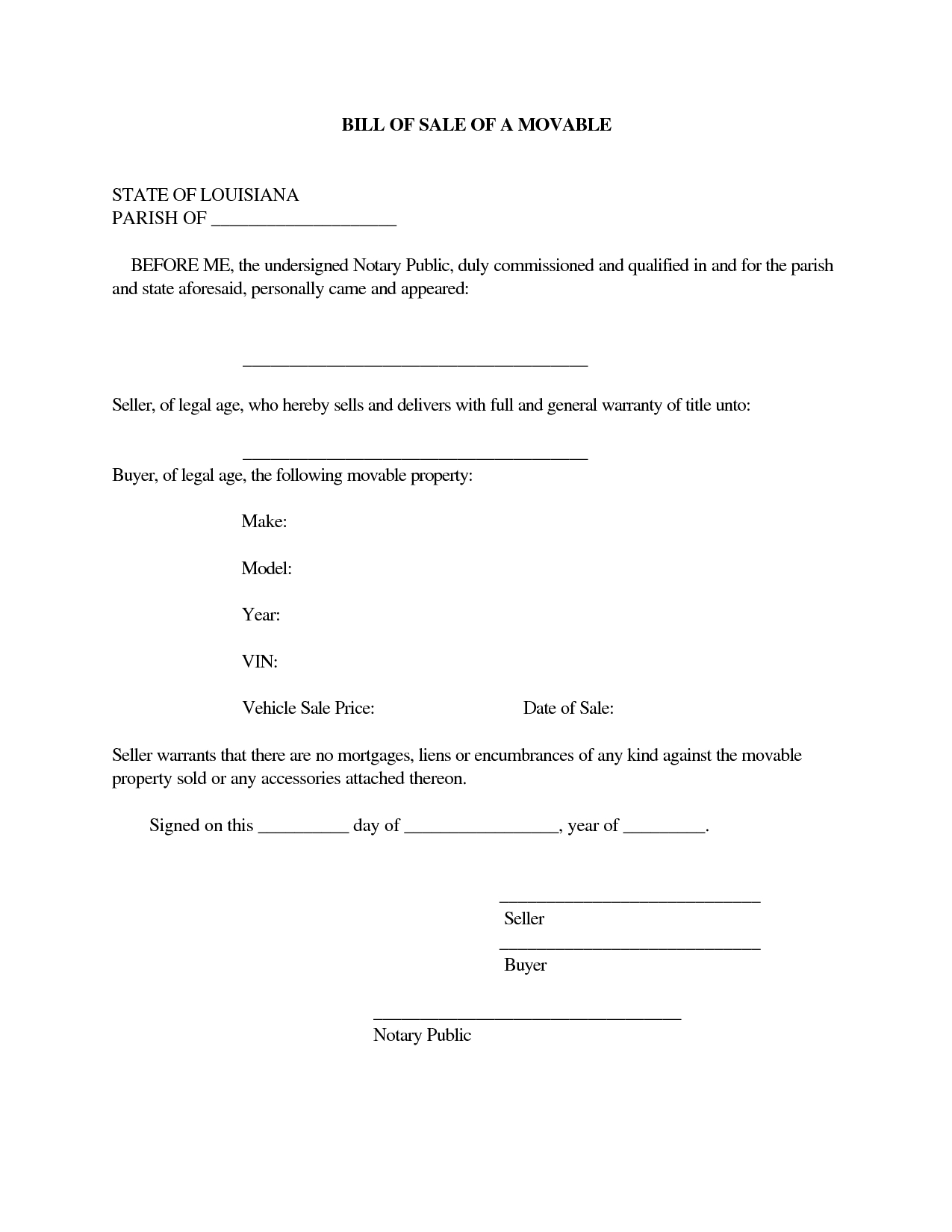 printable sample champer bill of sale form free legal documents::Car Bill of Sale Form Template Printable