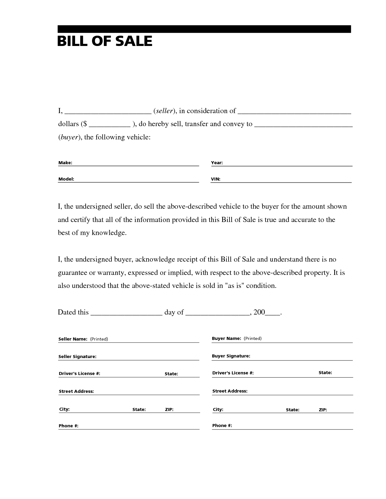 sell car form vatozatozdevelopmentco::Car Bill of Sale Form Template Printable