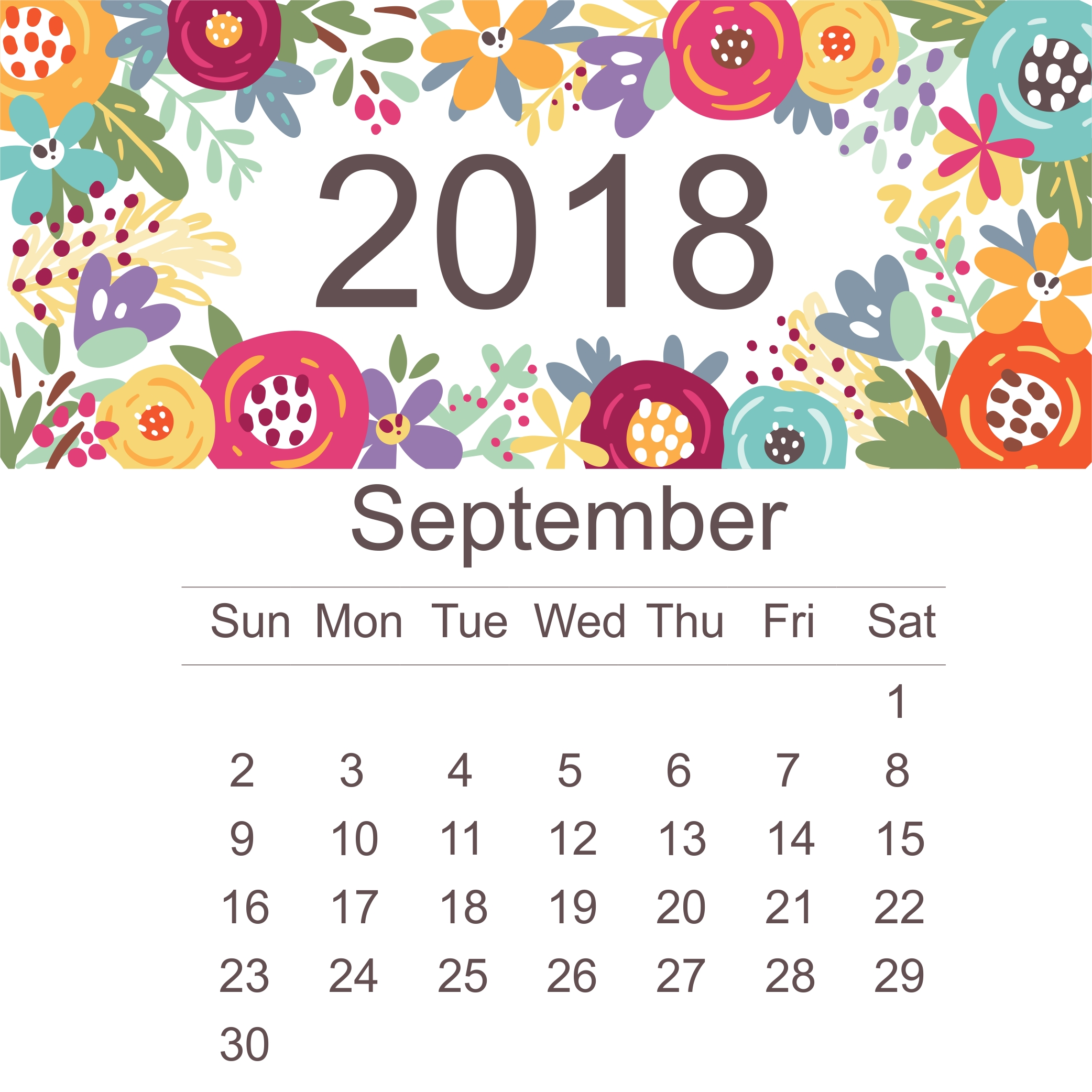 september 2018 calendar printable free site provides september 2018 Stylish Calendar Templates erdferdf