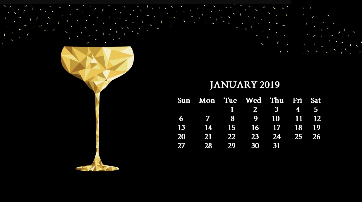 2019 hd desktop calendar wallpapers calendar 2018::January 2019 Desktop Calendar Wallpaper