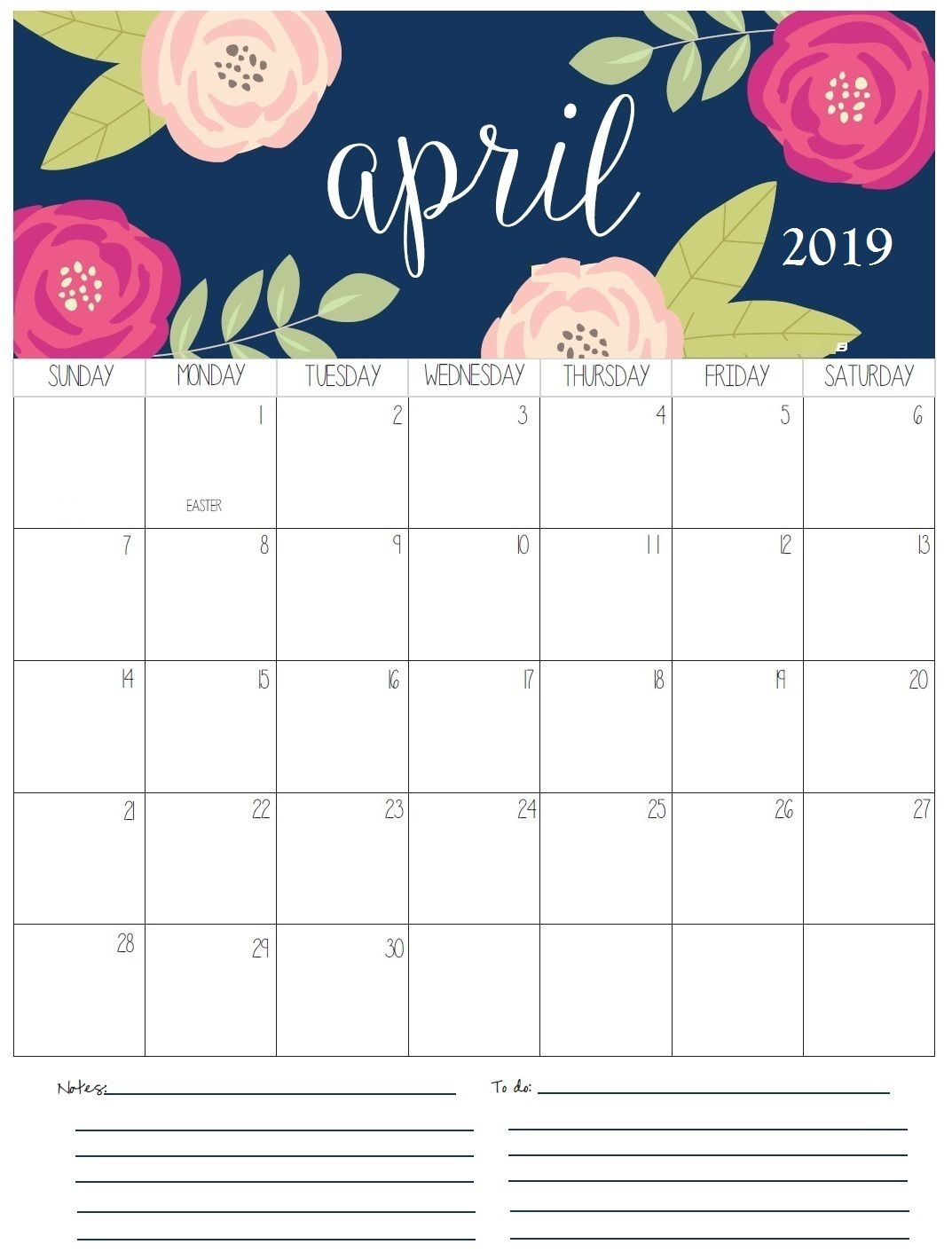 april monthly calendar 2019 organize pinterest printable::April 2019 iPhone Calendar
