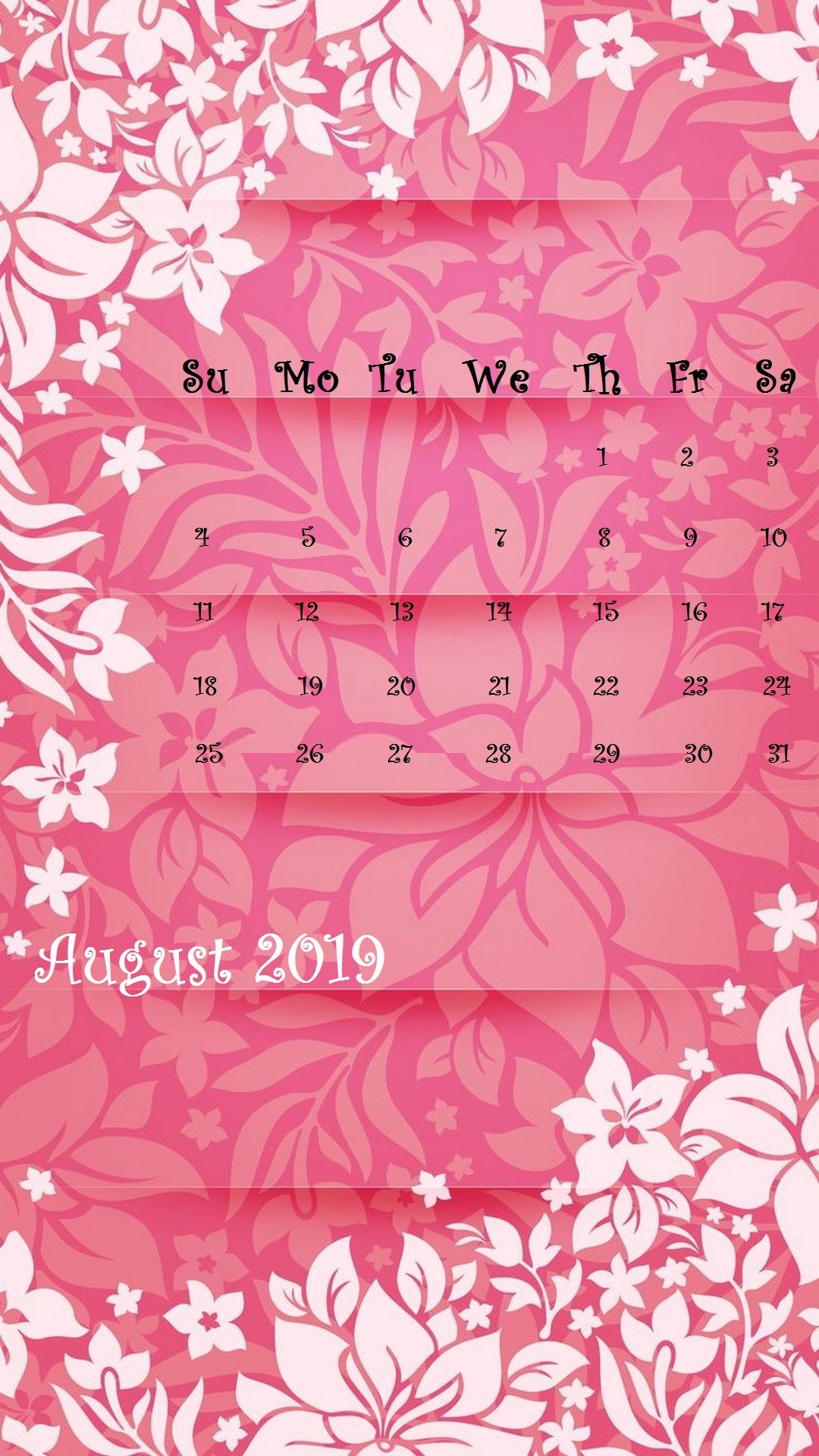 august 2019 iphone calendar wallpaper calendar 2019::August 2019 iPhone Calendar Wallpaper
