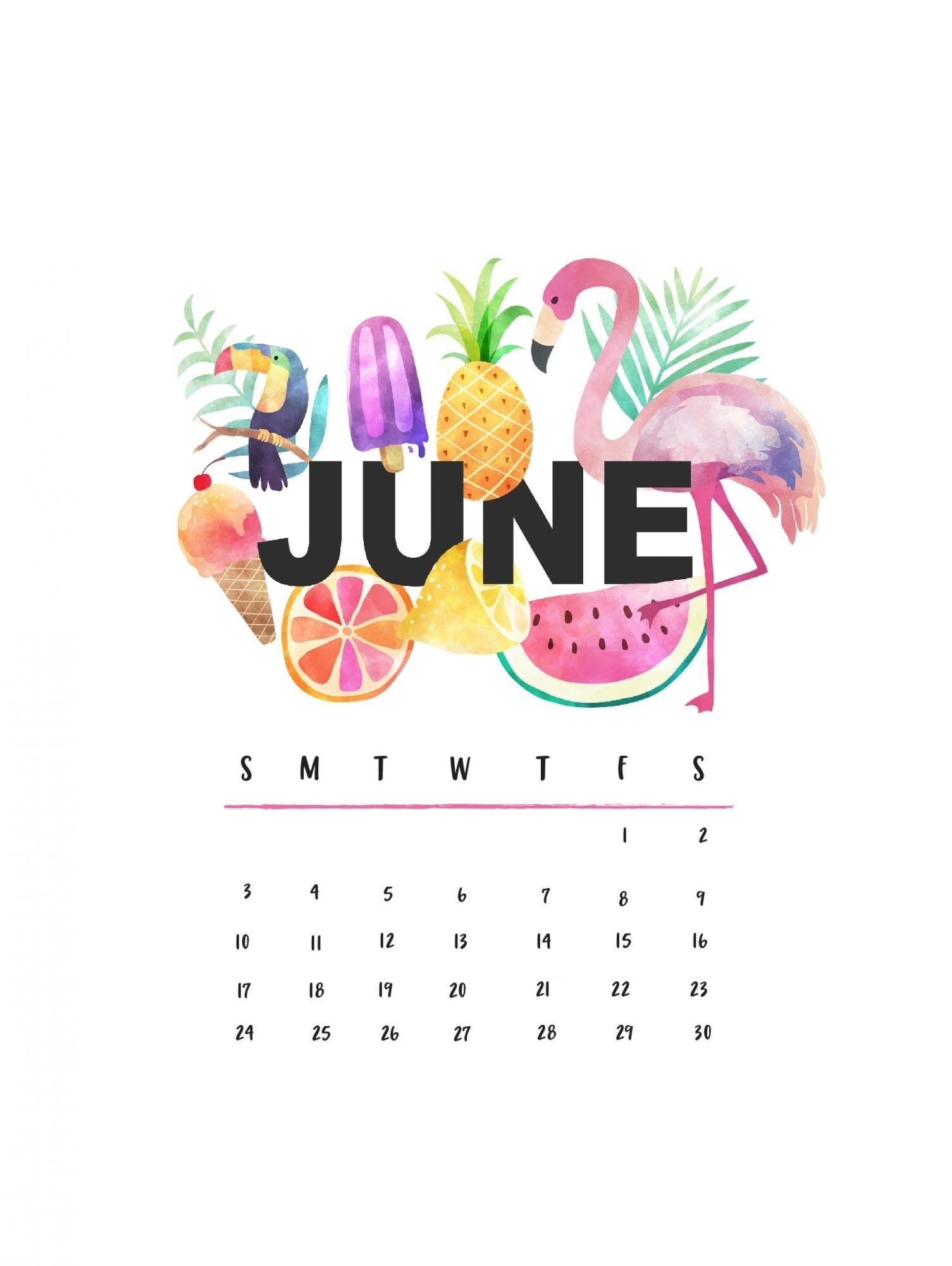 beautiful june 2019 iphone calendar wallpapers::June 2019 iPhone Calendar Wallpaper