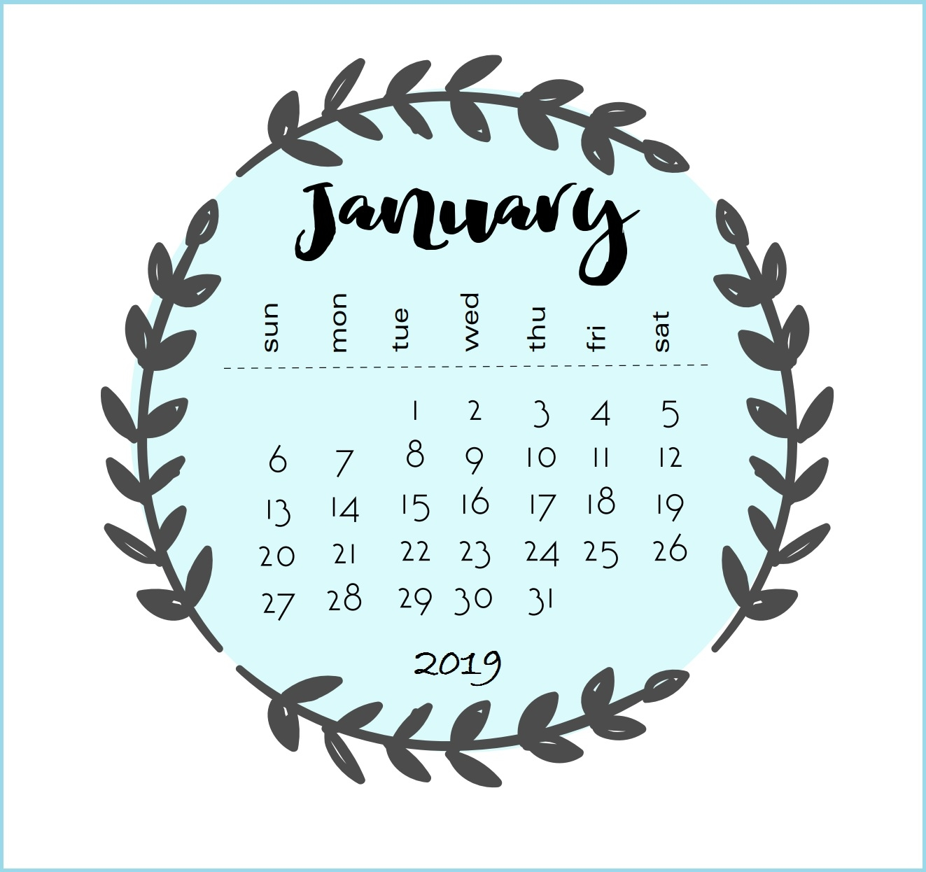 best january 2019 calendar designs ::January 2019 iPhone Calendar