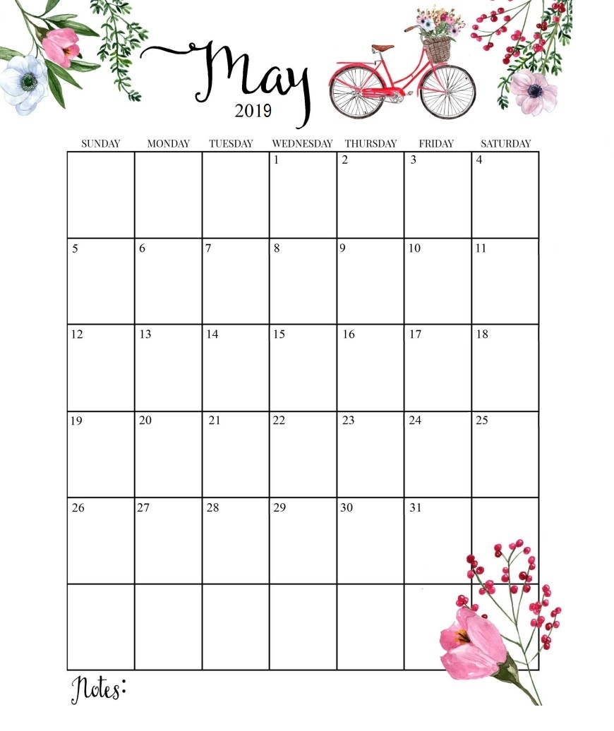 cute 2019 calendar printable month calendar::May 2019 Calendar Example