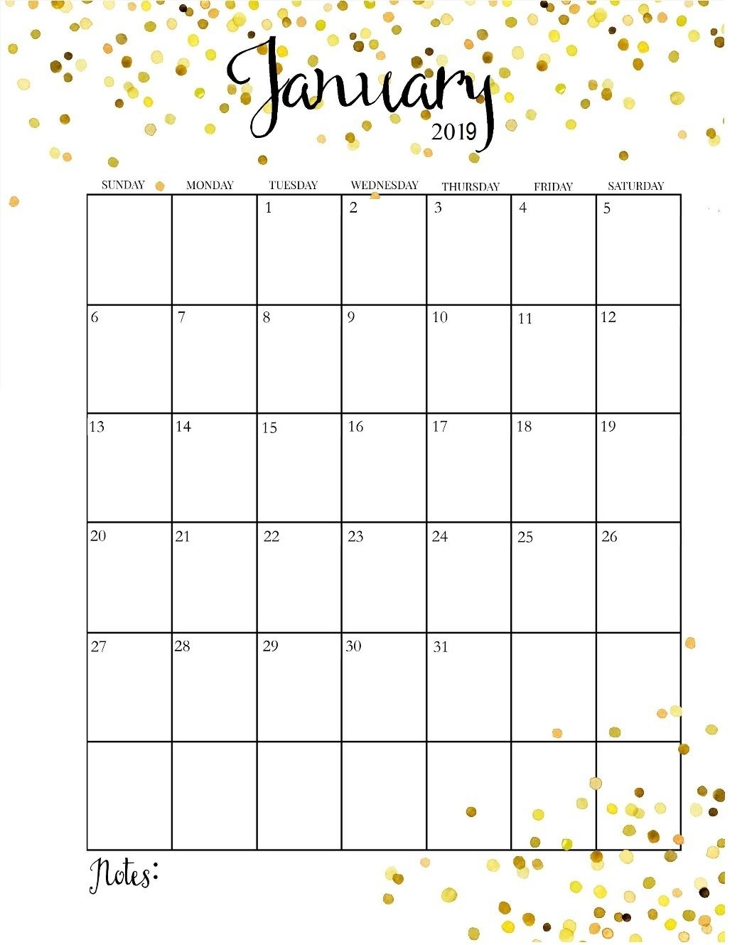 cute january 2019 calendar calender pinterest january::January 2019 iPhone Calendar