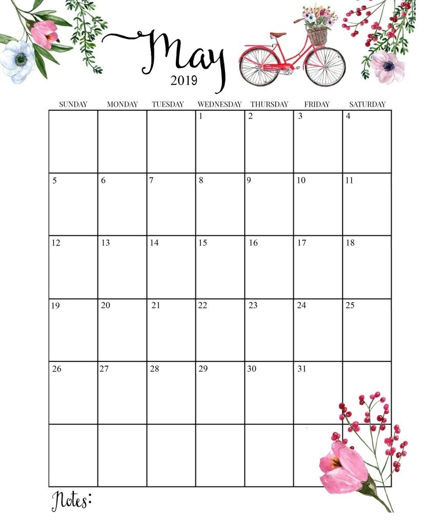 cute may 2019 calendar fayyah in pinterest planners::May 2019 Blank Template