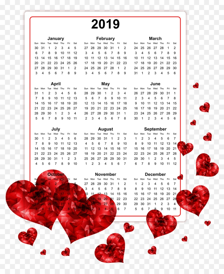 download 2019 printable calendars 2019 calendar png download::Download 2019 Printable Calendar