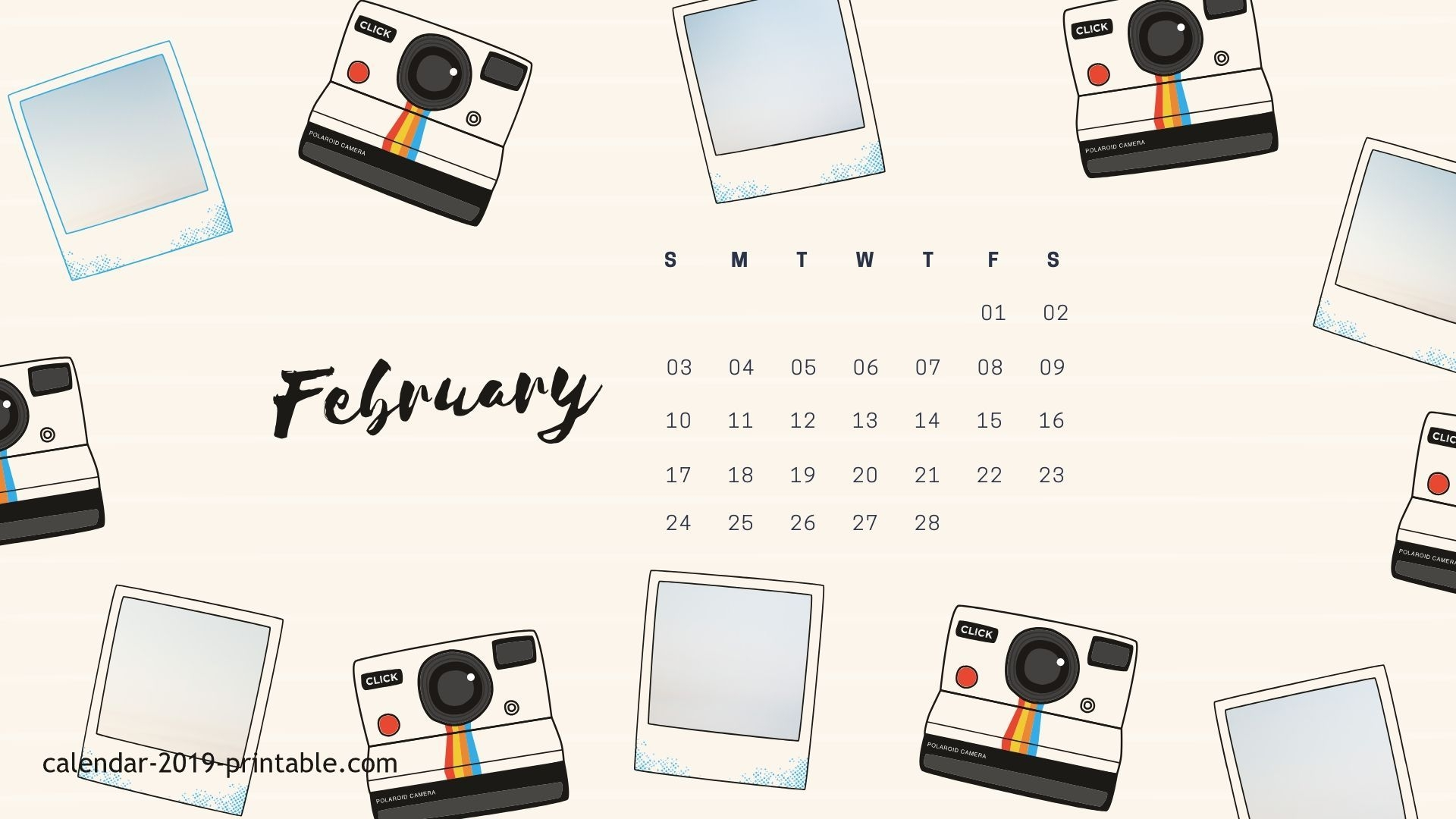 February 2019 iPhone Calendar Wallpaper
