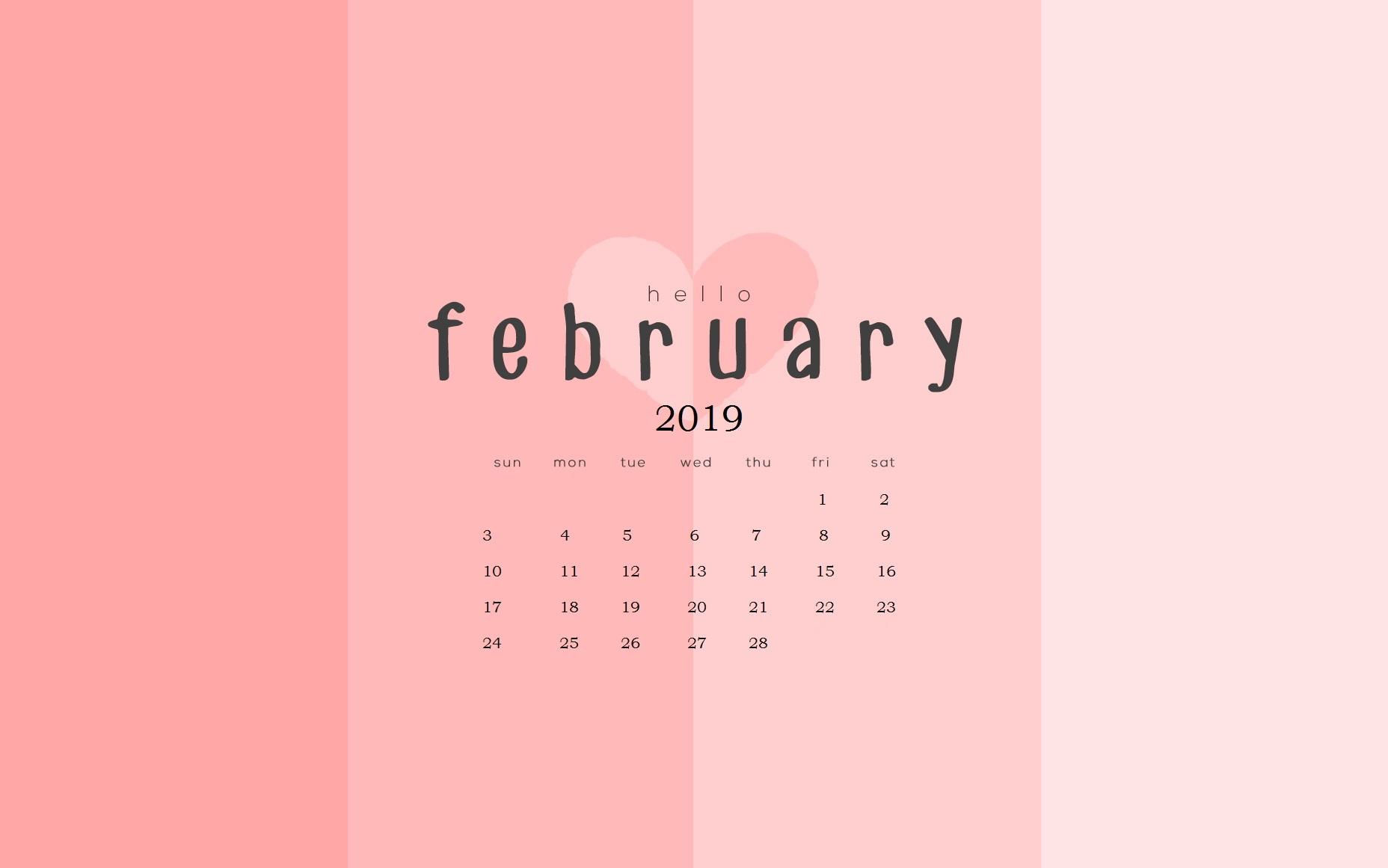 february 2019 calendar wallpapers calendar 2019::February 2019 Desktop Calendar
