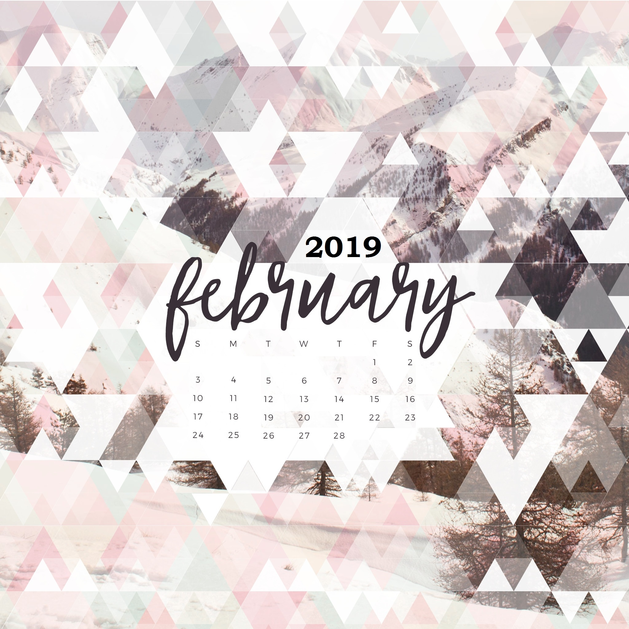 february 2019 calendar wallpapers calendar 2019::February 2019 iPhone Calendar Wallpaper