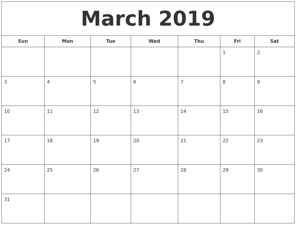 february 2019 calendar::February 2019 Calendar Excel