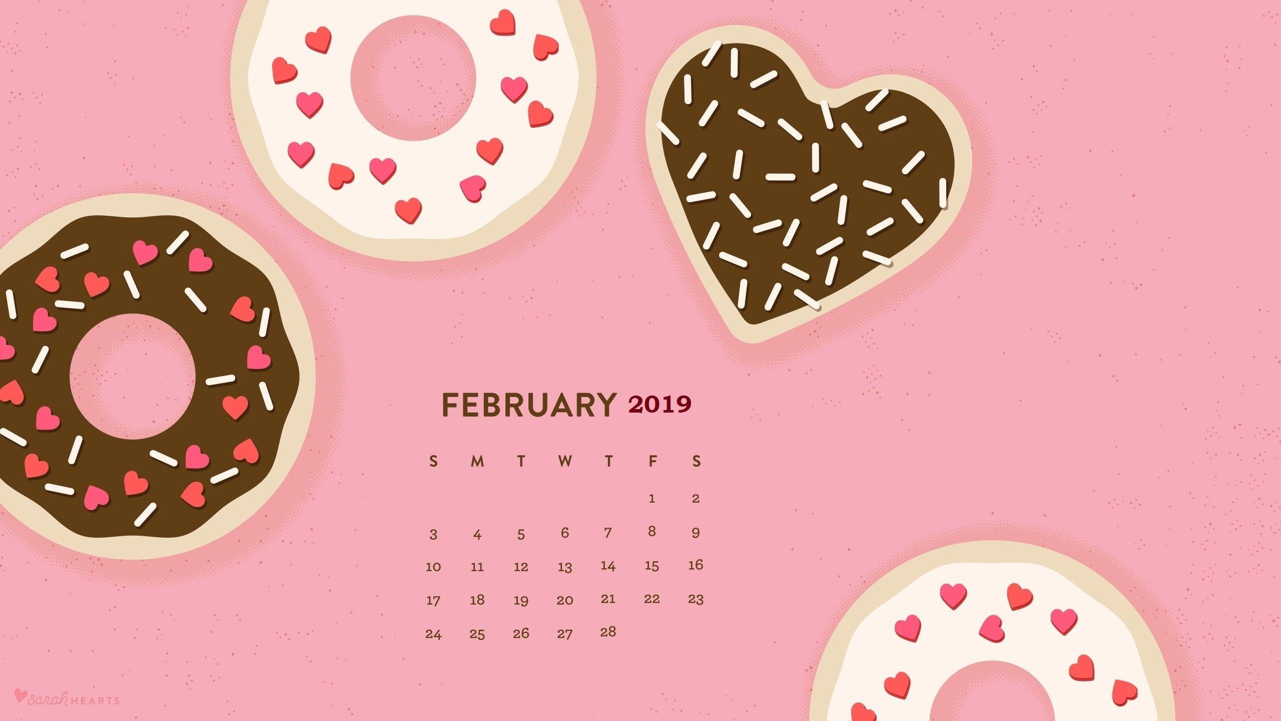 february 2019 hd calendar wallpaper monthly calendar templates::February 2019 Desktop Calendar