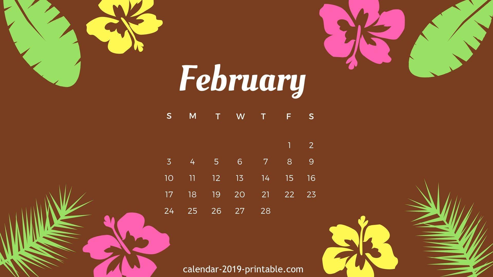 february 2019 hd desktop wallpaper calendar 2019 wallpapers::February 2019 Desktop Calendar