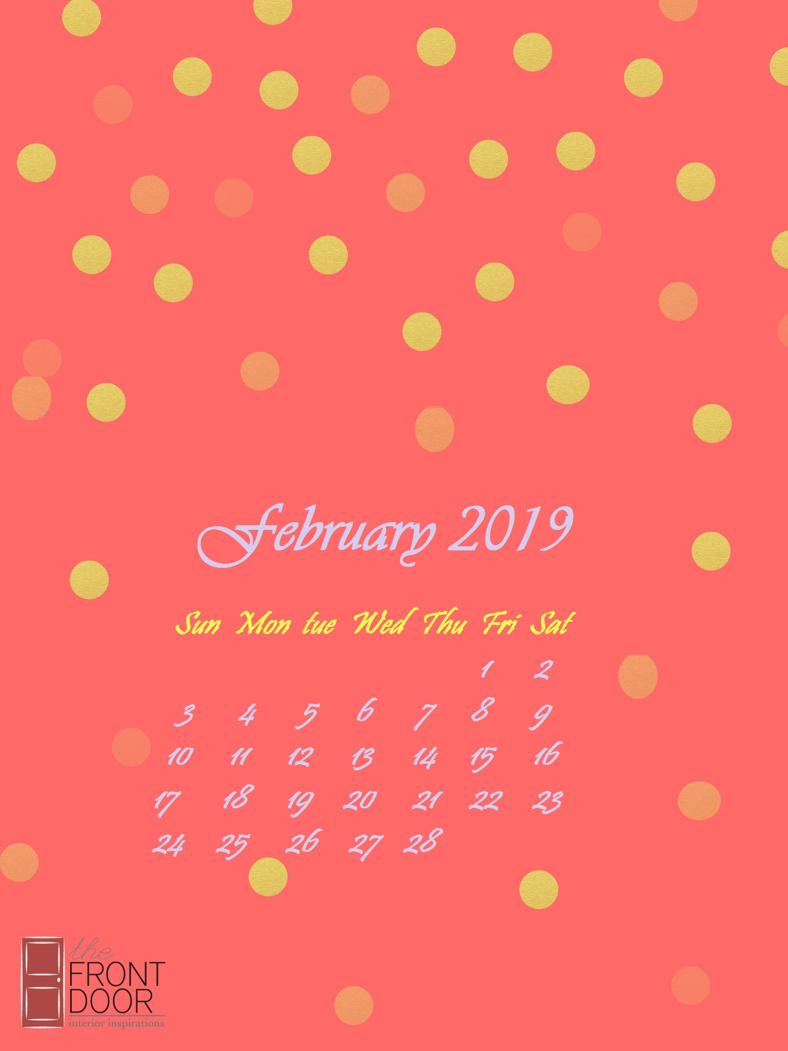 february 2019 iphone calendar wallpaper calendar 2019::February 2019 iPhone Calendar Wallpaper
