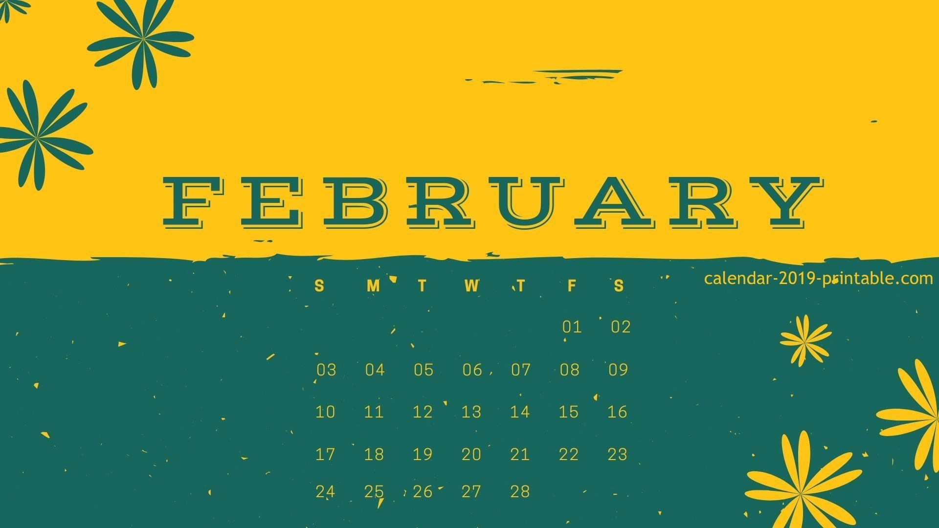 february 2019 orange green calendar wallpaper 2019 calendars::February 2019 iPhone Calendar Wallpaper