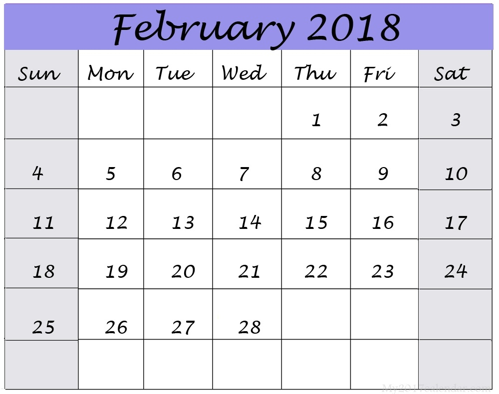 february calendar 2018 word free and template simple blank::February 2019 Calendar Word